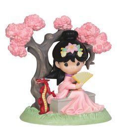 Look at this #zulilyfind! Mulan Under Cherry Blossom Tree Figurine #zulilyfinds