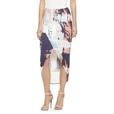 Hi-Lo Tulip Maxi Skirt Painterly Print - Mossimo from Target. Hi Low Skirts, Long Skirts, Hawaii Outfits, White Maxi Skirts, Chic Outfits, Tie Dye Skirt, Fashion Forward, Tulip, Clothes For Women
