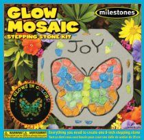 New - Glow In The Dark Mosaic Stone Kit- by WMU