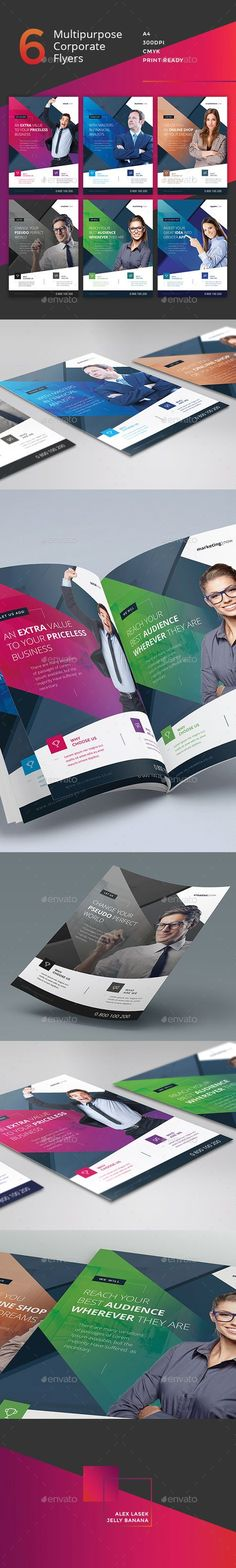 Corporate Flyer - 6 Multipurpose Business Template PSD #design Download: http://graphicriver.net/item/corporate-flyer-6-multipurpose-business-templates-vol-14/13580447?ref=ksioks
