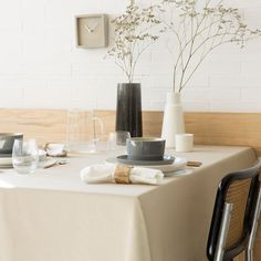 Image 1 of the product Khaki Washed Cotton Napkin and Tablecloth