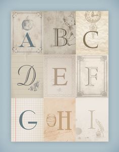 Free Printable Wall Art | Nursery Alphabet Wall Art {free printables}
