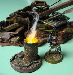 Nice brasero (Brushfire's Miniature blog)