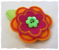 Felt flowers, with instructions, from GG Designs Embroidery