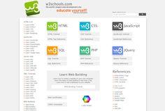 w3schools is a UI friendly website to learn about web development.