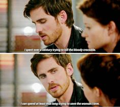 I can spend at least that long trying to save the woman I love Captain Swan, Captain Hook, Once Upon A Time, Dark Swan, Abc Shows, Killian Jones, Colin O'donoghue, Emma Swan, Look At You