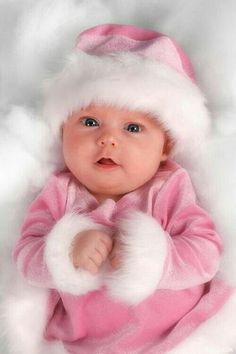 I now have my own little Santa Baby grand daughter! She is truly a Santa Baby. She was born December She even looks like this little Santa Baby! So Cute Baby, Baby Kind, Baby Love, Cute Kids, Cute Babies, Santa Baby, Little Doll, Little Babies, Little Girls