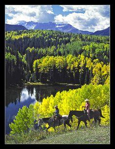 skyline ranch telluride colorado ~ 5 day pack trip to celebrate Wm's bday.