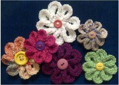 8 petal flower crochet pattern
