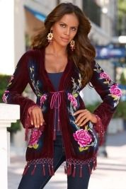 Velvet floral tunic in Fall Trends 2012 from Boston Proper on shop.CatalogSpree.com, my personal digital mall.