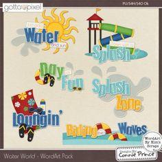 Water World  - Digital Scrapbook WordArt