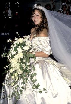 Mariah Careyon her wedding day in 1993. Photo: WireImage