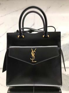 1f633da80ccc Saint Laurent UPTOWN SMALL TOTE IN SHINY SMOOTH LEATHER Black  handbags   fashion  bags