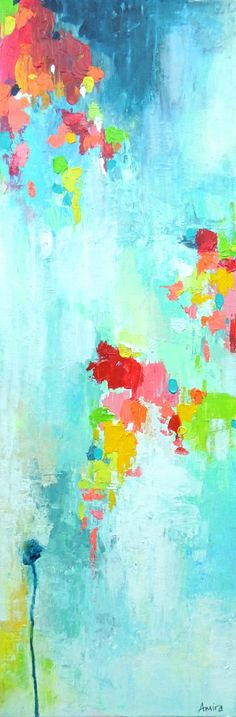 """Baby Shower"" Colorful Abstract Painting by Amira Rahim on Etsy"
