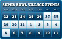 25 days until Super Bowl!  But Super Bowl Village opens Jan 27th!