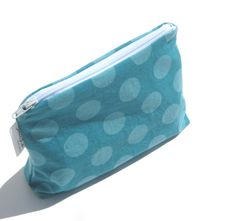 Small Clutch Zipper Pouch Turquoise Aqua by SmiLeaGainCreations, $10.00