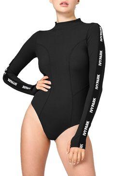 36893da9cd933 IVY PARK® Elastic Logo Sleeve Bodysuit