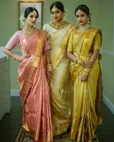 Indian Bridal Sarees, Indian Silk Sarees, Indian Bridal Fashion, Asian Fashion, Women's Fashion, Indian Designer Outfits, Indian Outfits, Engagement Saree, South Indian Bride