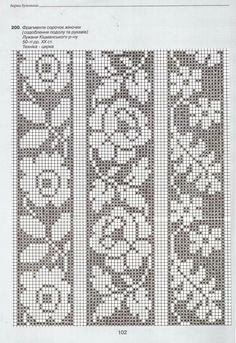 """This material from Anastasia Marusik's book """"The Bar … – knitting charts Fair Isle Knitting Patterns, Knitting Charts, Knitting Stitches, Crochet Patterns, Cross Stitch Borders, Cross Stitch Flowers, Cross Stitch Patterns, Crochet Curtains, Tapestry Crochet"""