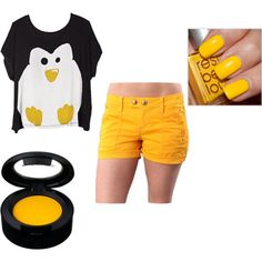 Penguin outfit.... I would wear Longer shorts. Really Cute Though!!