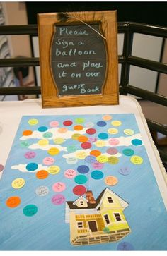 Love this guest book idea! Reminds me of you Brittany!