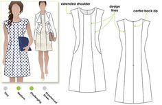 Patti Woven Dress Sizes 10 12 14 Woven Dress PDF von StyleArc
