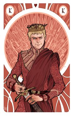 Game of Thrones' cards | Joffrey Baratheon | King of Hearts https://www.facebook.com/simonabonafiniartwork