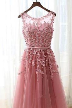 2017 Lovely Handmade Pink Tulle Knee Length Prom Dresses,short Cute Homecoming Dresses, Sweet 16 Dresses