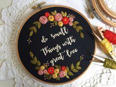Embroidery hoop,Embroidery art,Hand embroidery,Floral embroidery,Embroidery hoop art,Modern embroidery,Home decor,Personalized custom order by zezehandcraft on Etsy https://www.etsy.com/listing/534265481/embroidery-hoopembroidery-arthand