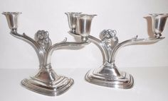 Rogers Silverplate Daffodil Candelabras Pair by Libbysmomsvintage ***ALSO SEE Vintage Jewelry at: http://MyClassicJewelry.com/shop