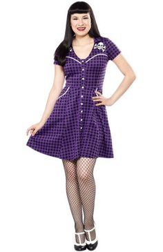 "Women's ""Bare Bones"" Western Dress by Sourpuss Clothing (Purple) Sourpuss Clothing, Vintage Outfits, Vintage Fashion, Queen Outfit, Western Dresses, School Fashion, Purple Dress, Different Styles, Cool Outfits"