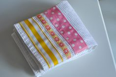 Aesthetic Nest: Sewing: Ribbon Dish Towels (Tutorial)
