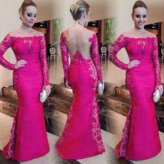 Vestido Fashion Encaje Largo