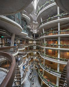 Completed in 2015 in Singapore, Singapore. Images by Hufton+Crow . The Learning Hub at Nanyang Technological University (NTU Singapore), designed by Heatherwick Studio and executed by lead architect CPG Consultants,. Singapore Architecture, Art Et Architecture, Organic Architecture, Futuristic Architecture, Amazing Architecture, Contemporary Architecture, Pavilion Architecture, Residential Architecture, University Architecture