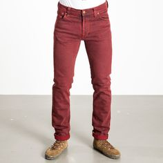 Nudie Jeans: Thin Finn Icon Jeans Red