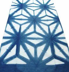 Asanoha Indigo Scarf Medium Indigo 16 x 80 by PanaceaTextile Indigo Colour, Indigo Dye, Islamic Art Pattern, Pattern Art, Dark Colors, Green Colors, Dark Shades, Neon Green, Shibori