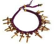 Elkin Smoking Gun Purple 'Count your confessions' Bracelet
