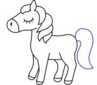 رسم يونيكورن للاطفال المبتدئين بالخطوات رسمات انمي وشخصيات كرتونية بالرصاص سهلة وكيوت Art Fictional Characters Character