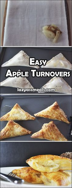 Crunchy apple turnovers that only need 4 ingredients!