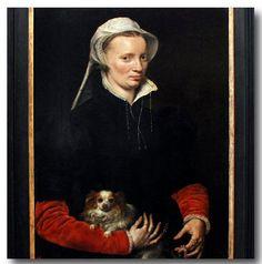 Netherlandish artist, Antonis Mor (Antonio Moro van Dashorst 1517-1577) - Portrait of the Wife of Jean Lecocq. 1559. Staatliche Museen Kassel, Schloss Wilhelmshöhe.