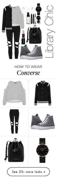 """Library Chic"" by iris913 on Polyvore featuring River Island, W118 by Walter Baker, Givenchy, Converse, Mansur Gavriel, Bobbi Brown Cosmetics, Smashbox, Nasty Gal and CLUSE"