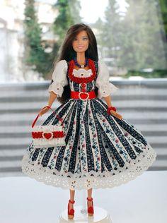"""Barbiekleid Dirndl """"Vroni"""" von Esk Multistyle auf DaWanda.com"""