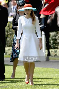 Princess Beatrice arrives in the Parade Ring as she attends Ladies Day on day 3 of Royal Ascot at Ascot Racecourse on June 18, 2015 in Ascot, England.  (Photo by Chris Jackson/Getty Images)