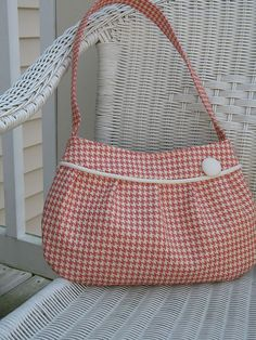 Love Pink Hounds Tooth Buttercup Bag by stitch248 on Etsy, $40.00