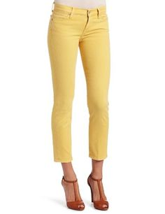 7 For All Mankind Women's Slim Straight Leg Jean in Yellow, Yellow, 28 buy at http://www.amazon.com/dp/B006P2DWDY/?tag=bh67-20