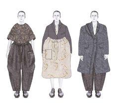 Fashion Sketchbook - fashion illustrations; lineup; fashion student portfolio // Caroline Day