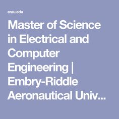 Master of Science in Electrical and Computer Engineering | Embry-Riddle Aeronautical University