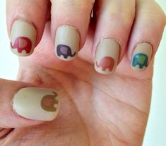 Patterned Elephant Nail Decals by PaipurNails on Etsy
