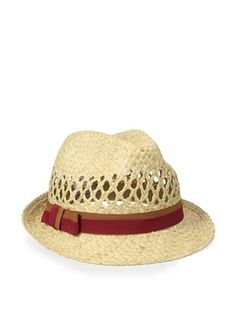 Il Cappellaio Women's Johnny Cutout Fedora (Chocolate/Red)