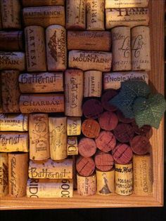 Wine Cork Board - Grapes